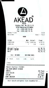 akead pos receipt